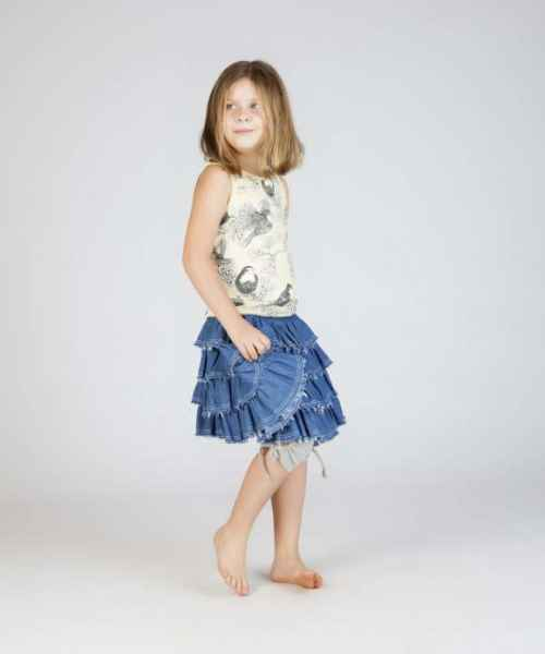 Robin Print Sleeveless Girls Top (Organic Cotton)
