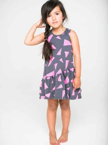 Leona Sleeveless Tweens Dress in Titanium Gray