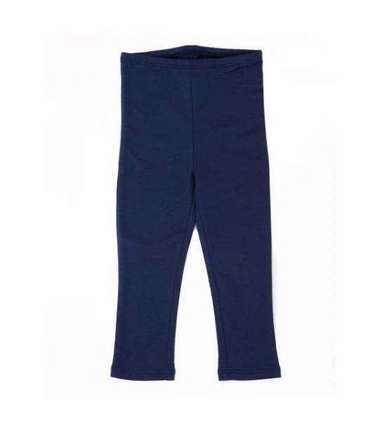 Navy Modal Baby & Little Girls Leggings