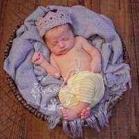 Gray Newborn Baby Crown