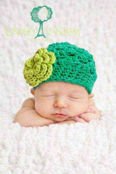 Baby Hats  Sale on Crocheted Baby Flower Hat   Lemonade Couture