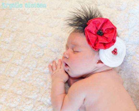Gwendolyn Baby Girl Flower Headband (American Made)