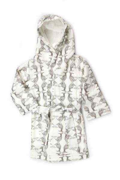 Koi Print Baby and Toddler Hooded Bathrobe (Organic Cotton)