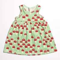 Mushroom Sleeveless Baby Girl Dress (American Made & Organic Cotton)