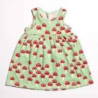 Mushroom Sleeveless Baby Girl Dress (American Made & Organic Cotton)