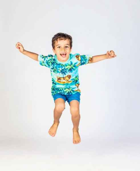 Lion Around Short Sleeve Big Boys Tee (Organic Cotton)