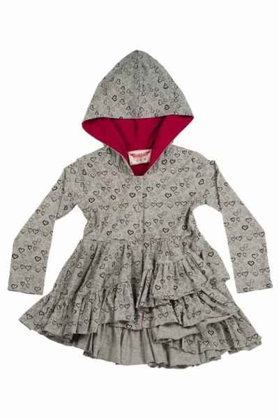 Tiny Hearts Big Girls Boutique Hooded Jacket (Organic Cotton)