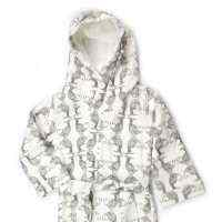 Koi Print Organic Cotton Baby & Toddler Hooded Bathrobe