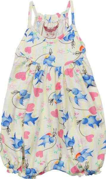 Bluebird Sleeveless Baby Girl Romper (Organic Cotton)