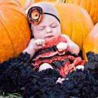 Halloween Orange and Black Lace Petti Romper Outfit for Baby Girls