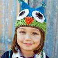 Turquoise Crocheted Owl Hat for Children