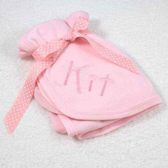 Personalized Pink Baby Girl Receiving Blanket