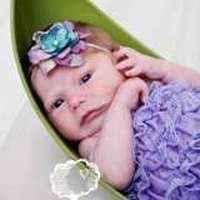 Lavender Baby Girl Lace Ruffle Petti Romper