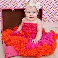 Raspberry & Orange Chiffon Girls Boutique Pettiskirt