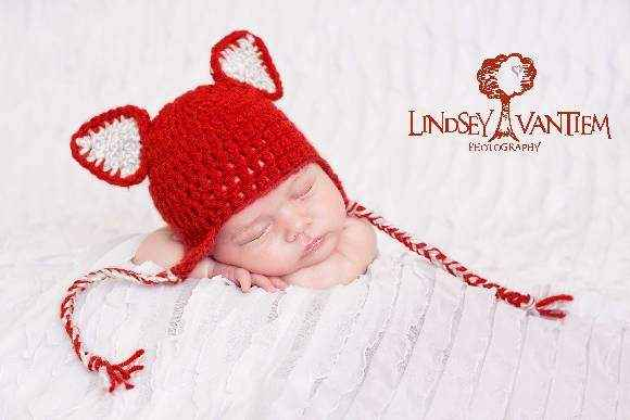Red Fox Baby and Little Kids Hat