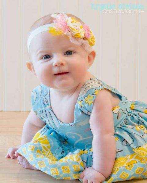 Vintage Style Baby Headband Lemonade Couture