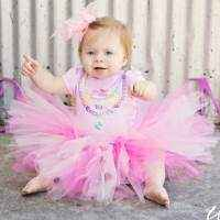 Perfectly Pink Tulle Baby Girl Boutique Tutu (American Made)