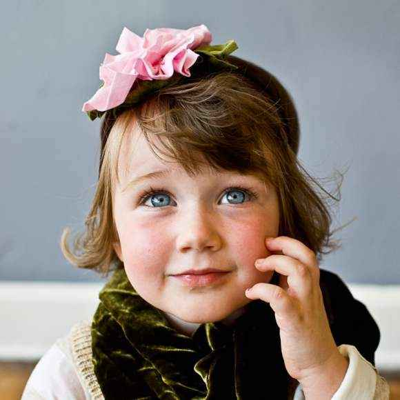 Chocolate & Roses Girls Headband (American Made)