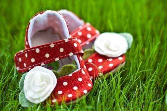 Strawberry Dotty Baby and Toddler Girls Shoes (American Made)