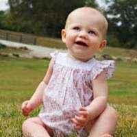Pink Bird Print Flutter Sleeve Baby Girl Bubble Romper (Organic Cotton)