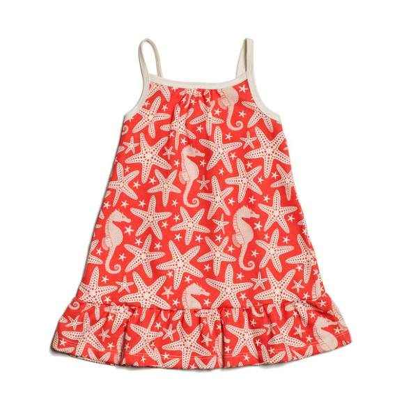 Starfish Spaghetti Strap Baby Girl Dress (American Made & Organic Cotton) - ONLY ONE LEFT!