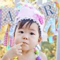 Pink Princess Baby & Girls Birthday Crown (American Made)
