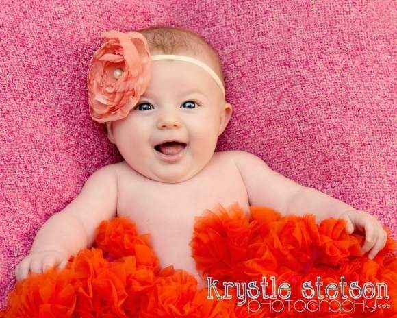 Raspberry and Orange Chiffon Baby Girl Boutique Pettiskirt