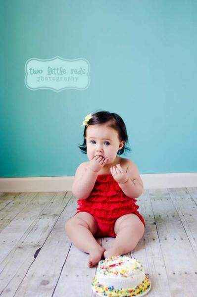 Red Baby Girl Lace Ruffle Petti Romper