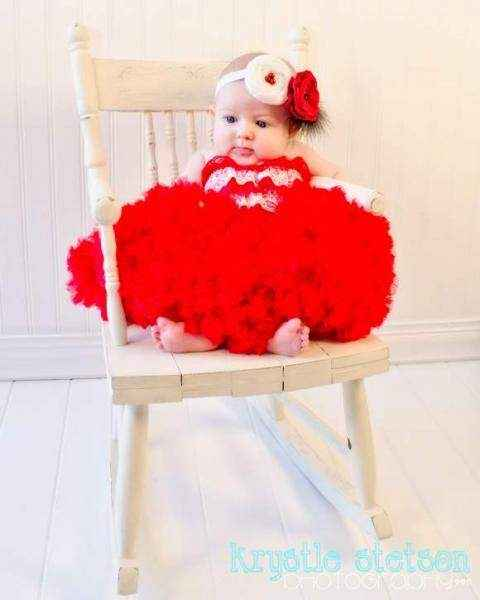 Red Chiffon Baby Girl Boutique Pettiskirt