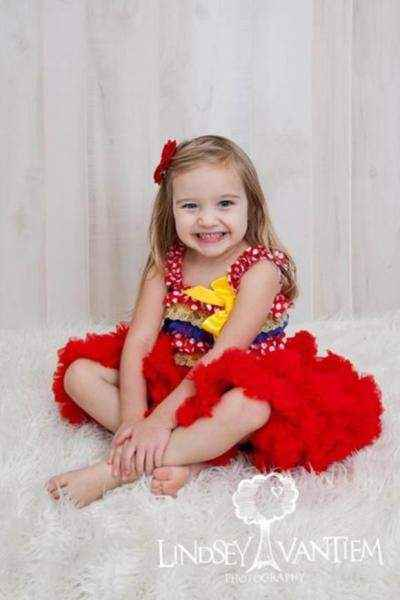 Red Chiffon Girls Boutique Pettiskirt