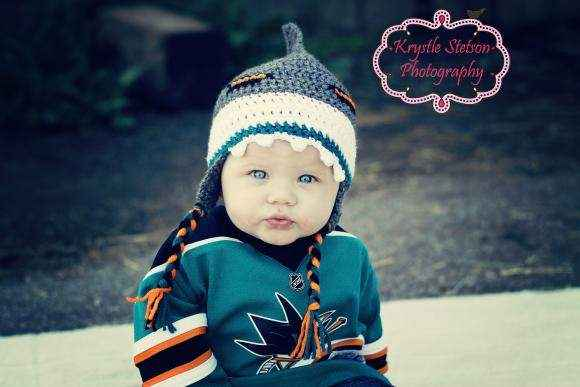 Sharks Baby, Kids and Adult Crocheted Hat (American Made)