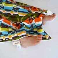 Circle Print Minky Travel Baby Blanket and Oversized Security Blanket (American Made)