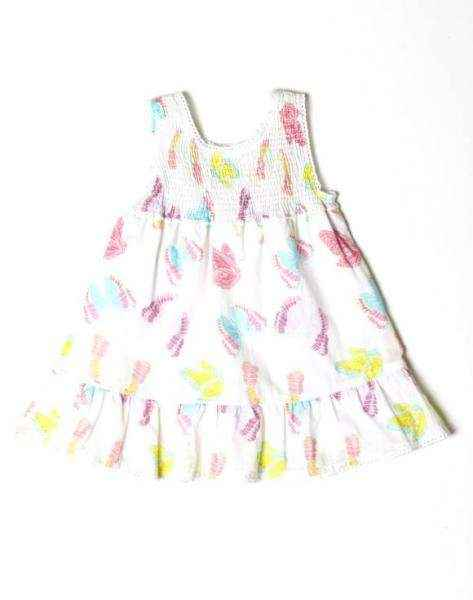 Butterfly Sleeveless Baby and Girls Dress