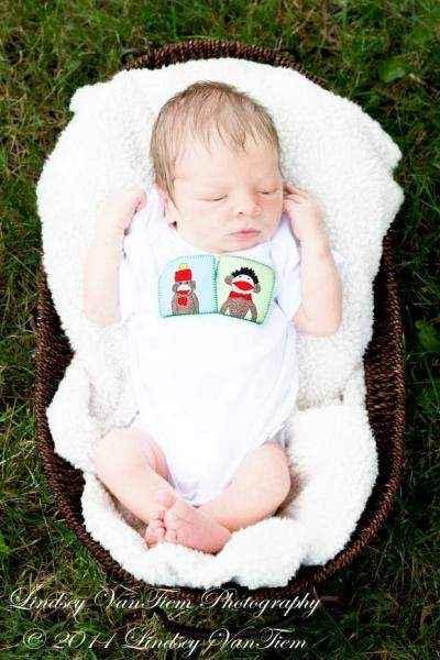 Sock Monkey Short Sleeve Baby Bodysuit