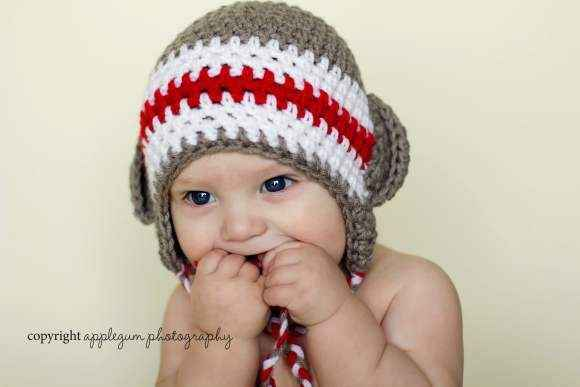 Sock Monkey Baby and Toddler Hat