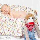 Counting Sock Monkeys Cuddle Baby Blanket (American Made)