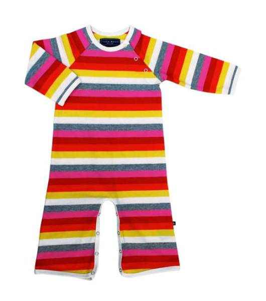 Stripes Long Sleeve Baby Jumpsuit and One Piece Pajamas