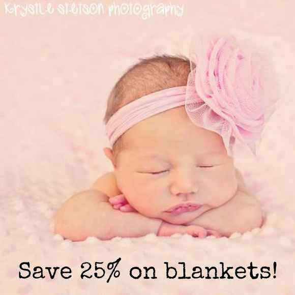 Save 25% on Baby Blankets!