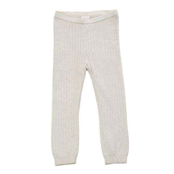 Oatmeal Sweater Knit Little Girls Leggings