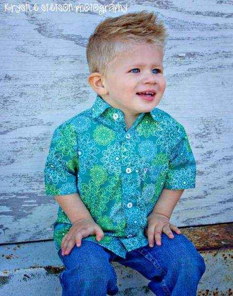 Kick the Can Short Sleeve Boys Button Down Shirt (American Made)