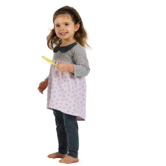 Modern Dot Long Sleeve Toddler Girls Dress (American Made)