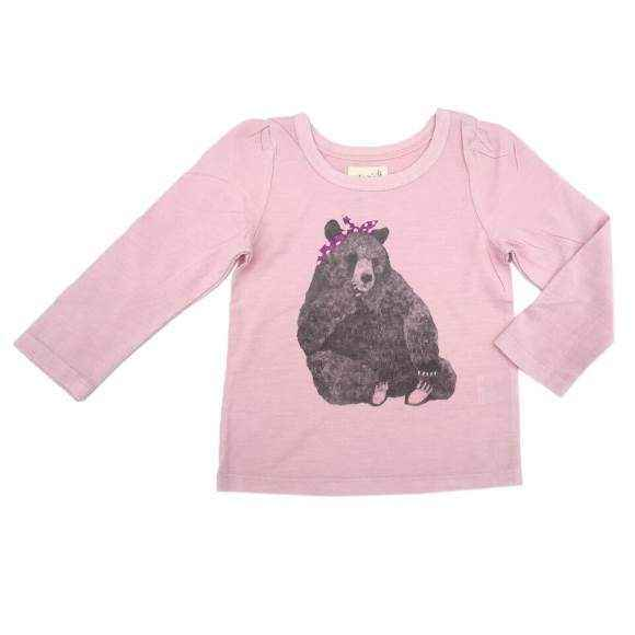 Bear Long Sleeve Baby and Toddler Girls T Shirt