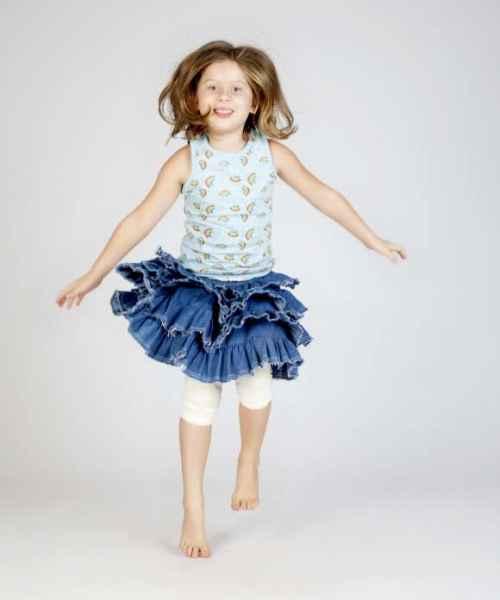 Unique Denim Tween Girls Skirt Lemonade Couture