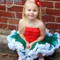 Christmas Green Girls and Toddlers Chiffon Tutu Skirt