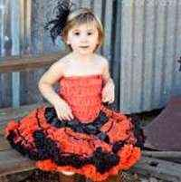 Halloween Chiffon Baby and Girls Boutique Pettiskirt