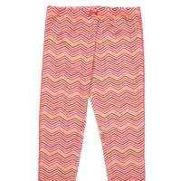Pink Chevron Big Girls Leggings