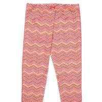 Pink Chevron Big Girls Leggings