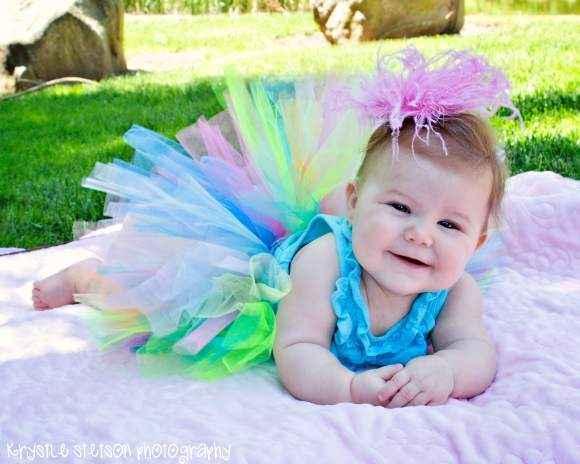 Lollipop Multicolor Tulle Baby Girl Boutique Tutu (American Made)
