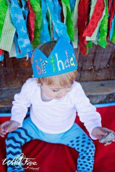 Birthday Boy Blue Baby and Boys Crown (American Made)