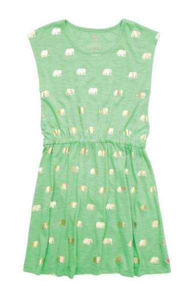 Elephant Green Hadley Big Girls Dress
